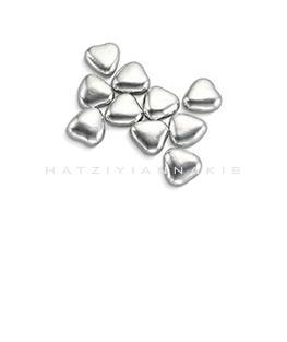 silver heart shape sugar decorative