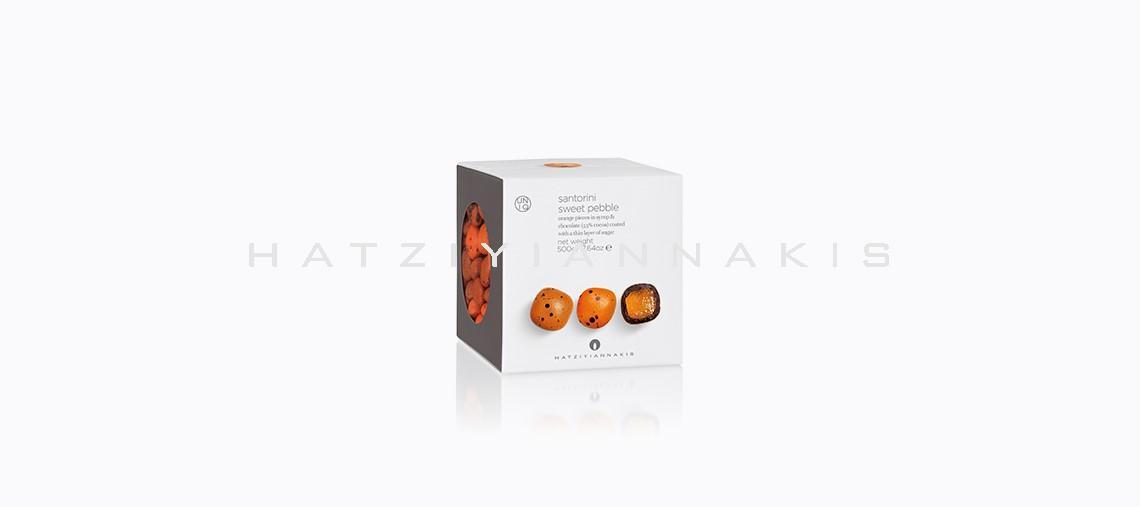 κουφέτο βότσαλο σαντορίνη πορτοκάλι 1kg