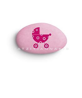 Τυπωμένα κουφέτα καροτσάκι ροζ