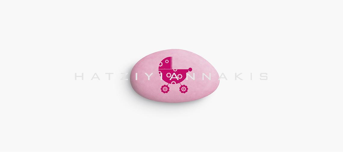 τυπωμένα κουφέτα καρότσι ροζ