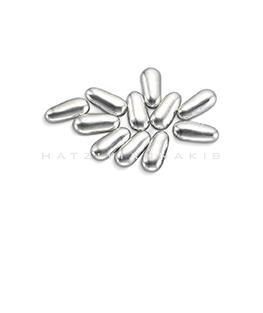 silver carrot shape sugar decorative
