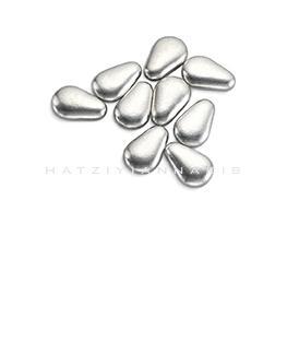 silver large almond shape sugar decorative