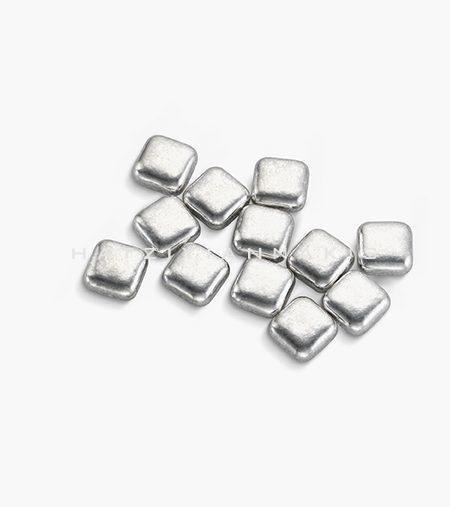 silver square shape decorative