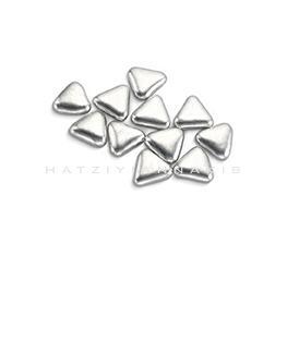 silver sugar triangle shape decoratives